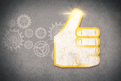 Composite image of thumbs up Stock Photos