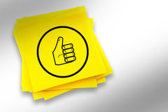 A Composite image of thumbs up graphic Stock Photos