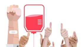 A composite image of thumbsup Stock Photos