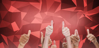 Composite image of thumbsup Stock Photos