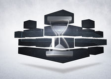 Composite image of timer on abstract screen Stock Photography