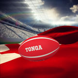 Composite image of tonga rugby ball Stock Images