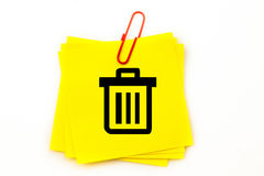 A Composite image of trash can Royalty Free Stock Photo