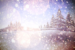 Composite image of twinkling stars. Twinkling stars against white snow and stars design Stock Image