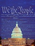 Composite image of the U.S. Capitol and the U.S. Constitution Royalty Free Stock Photo