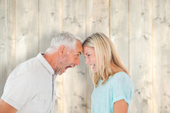 Composite image of unhappy couple having an argument Royalty Free Stock Images
