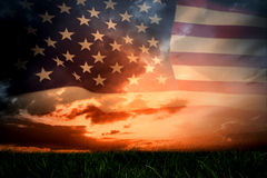 Composite image of united states of america flag Royalty Free Stock Image
