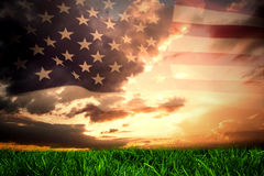 Composite image of united states of america flag Royalty Free Stock Photos