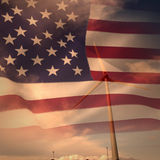 Composite image of united states of america flag Royalty Free Stock Photo