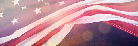 Composite image of united states flag. United States flag against green background with vignette Royalty Free Stock Images