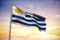 Composite image of uruguay national flag Royalty Free Stock Image