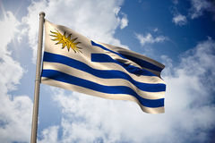 Composite image of uruguay national flag Royalty Free Stock Images