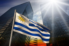 Composite image of uruguay national flag Stock Image
