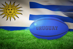 Composite image of uruguay rugby ball Stock Images