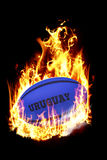 Composite image of uruguay rugby ball Royalty Free Stock Photo