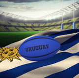 Composite image of uruguay rugby ball Stock Photography