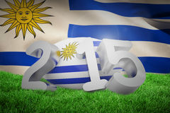 Composite image of uruguay rugby 2015 message Royalty Free Stock Photography