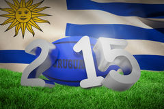 Composite image of uruguay rugby 2015 message Royalty Free Stock Photo