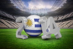 Composite image of uruguay world cup 2014 Royalty Free Stock Photo