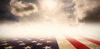 Composite image of usa flag in grunge effect Stock Photo
