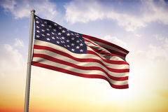 Composite image of usa national flag Royalty Free Stock Image