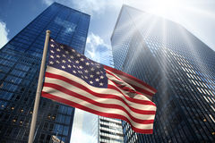 Composite image of usa national flag Stock Images