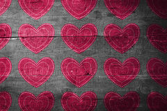 Composite image of valentines day pattern Stock Image