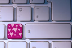 Composite image of valentines day pattern Stock Photography