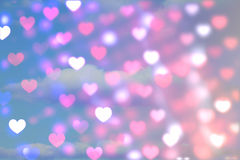 Composite image of valentines heart pattern. Valentines heart pattern against sky Stock Photos