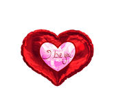 Composite image of valentines love hearts Stock Photography