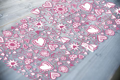 Composite image of valentines pattern Stock Photos