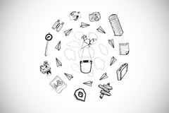 Composite image of various lifestyle doodles Stock Photography