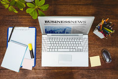 Composite image of view of a business desk Stock Photos