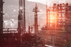 Composite image of view of industry Royalty Free Stock Photography