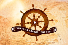 Composite image of vintage rudder Royalty Free Stock Photos