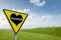 Composite image of volunteer heart Royalty Free Stock Photography