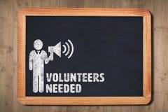Composite image of volunteers needed Royalty Free Stock Image