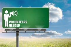 Composite image of volunteers needed Stock Photo