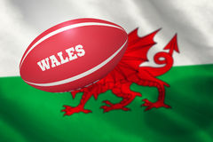 Composite image of wales rugby ball Royalty Free Stock Images