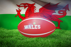 Composite image of wales rugby ball Royalty Free Stock Photos