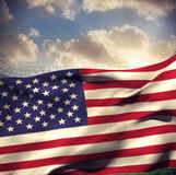 Composite image of waving american flag Stock Photography