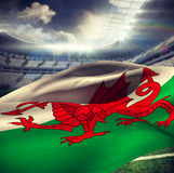 Composite image of waving flag of wales Stock Images