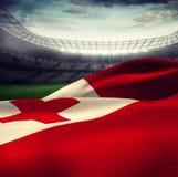 Composite image of waving tonga flag Royalty Free Stock Image