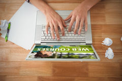 Composite image of web course ad Royalty Free Stock Image