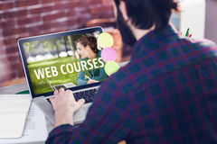 Composite image of web course ad Stock Images