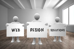 Composite image of web design solutions Royalty Free Stock Photos