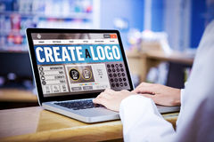 Composite image of webpage for create a logo Royalty Free Stock Photo