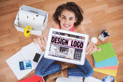 Composite image of webpage for create a logo Royalty Free Stock Photography