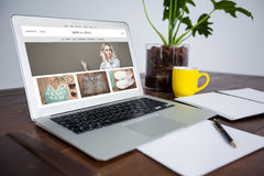 Composite image of website homepage Stock Photography