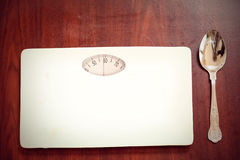 Composite image of weighing scale Stock Photography